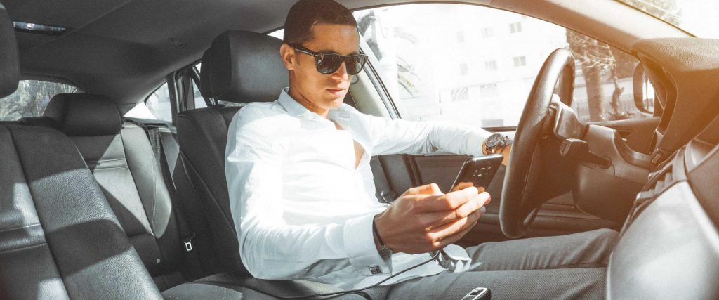 Driver distracted on phone